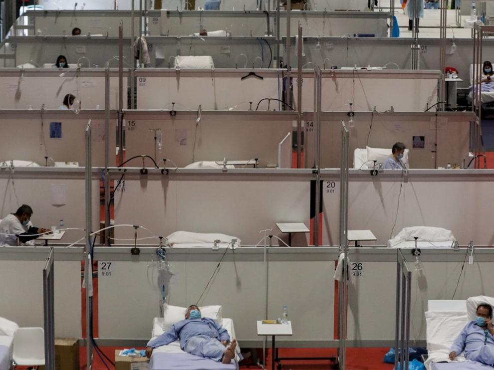 El hospital de Ifema cumple un mes operativo con 428 hospitalizados y un acumulado de 3.316 altas