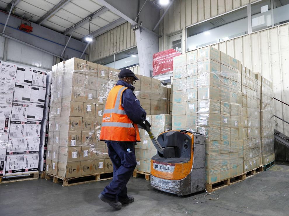 Aragón ha recibido más de 2,3 millones de unidades de material sanitario para hacer frente al coronavirus