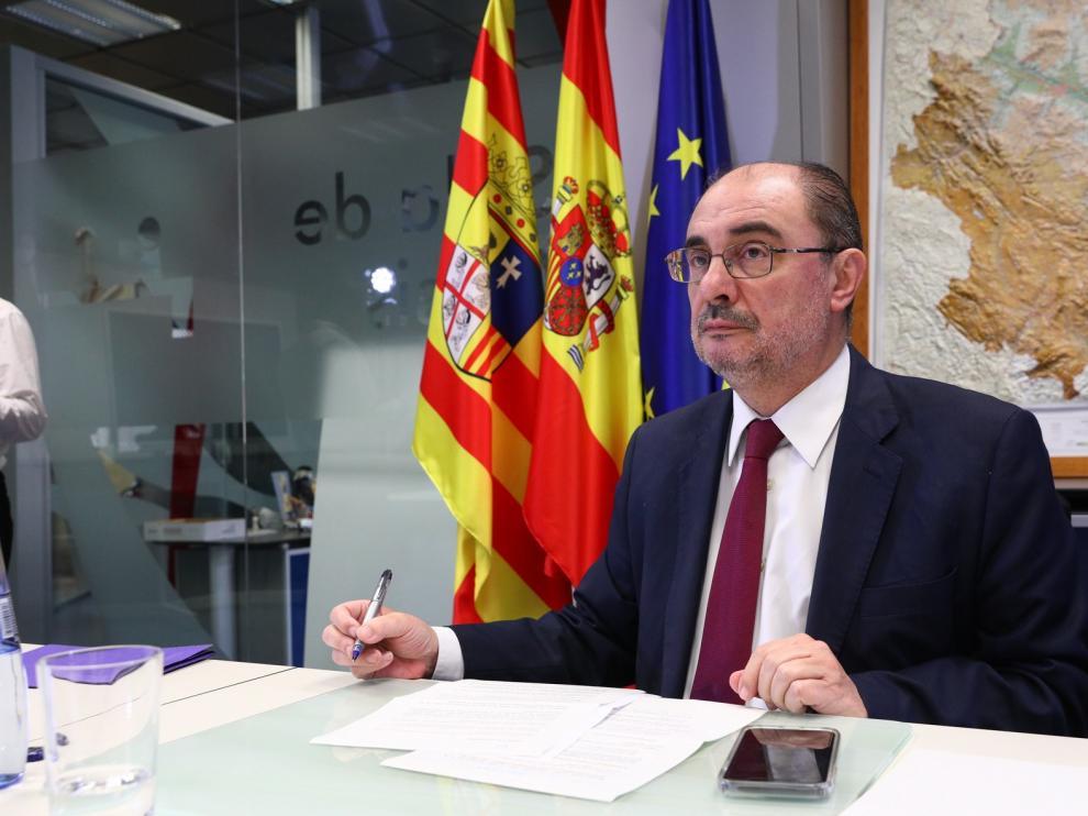 Javier Lambán plantea que la desescalada empiece en pueblos de menos 5.000 habitantes