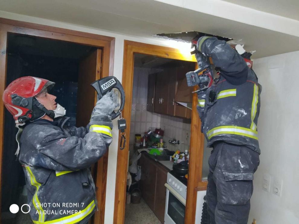 Una mujer sale ilesa de un incendio en su casa de Torres del Obispo