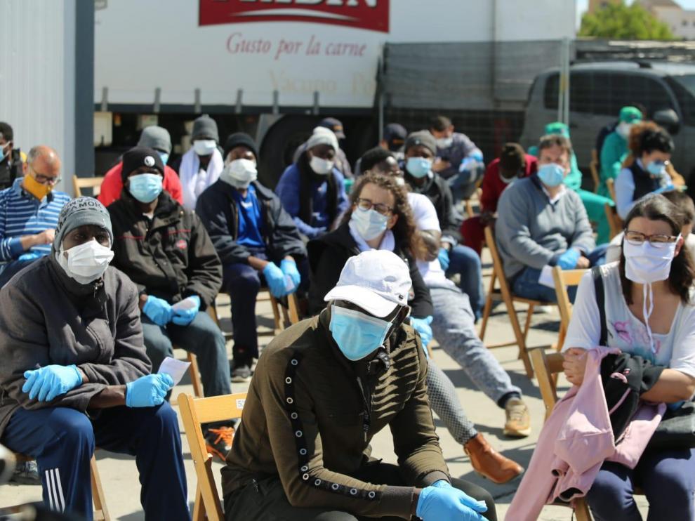 Acaban con normalidad en Binéfar los 657 test rápidos de coronavirus realizados en Fribin y los resultados se sabrán este miércoles