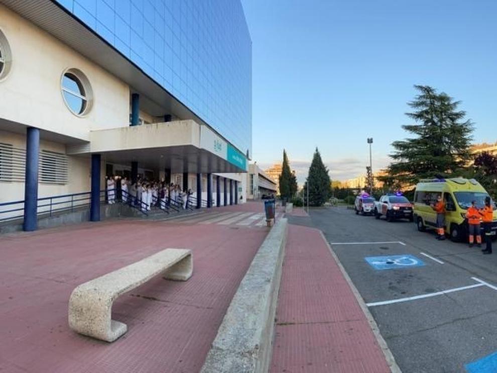 Los servicios de emergencias se suman a los tres días de luto oficial decretados en Huesca por el coronavirus
