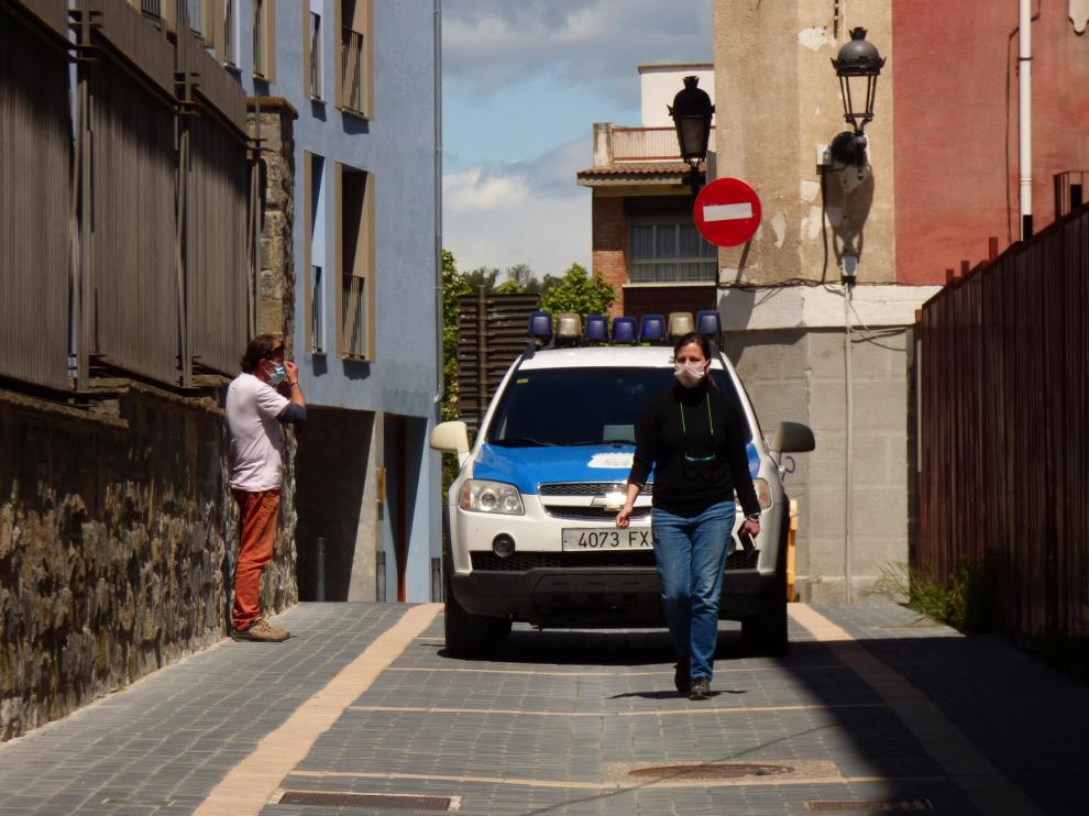 Barbastro estrena la zona de esparcimiento peatonal en el centro de la ciudad