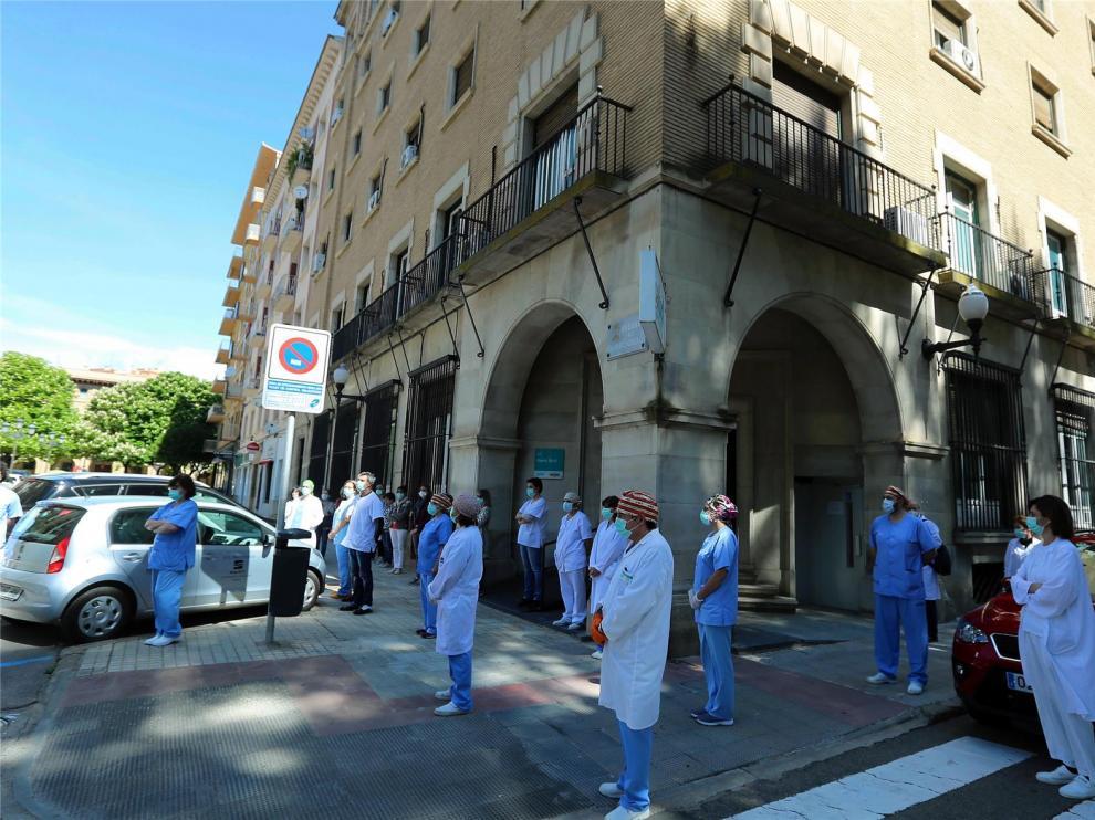 Huesca recuerda al trabajador de la limpieza del Hospital Miguel Servet fallecido por Covid-19