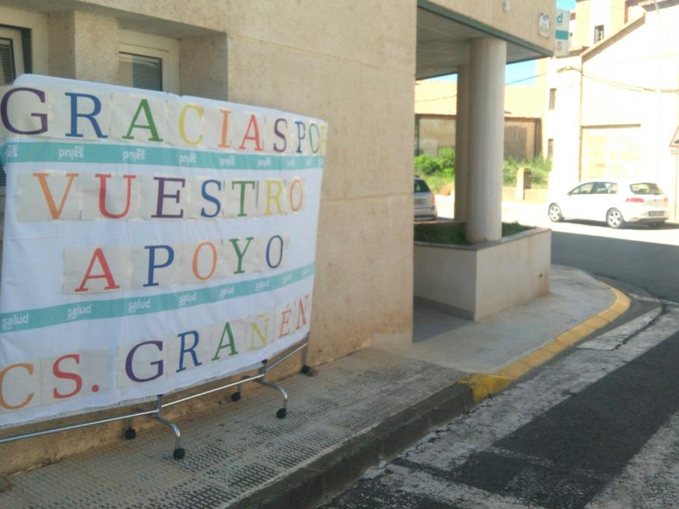 El Centro de Salud de Grañén agradece el apoyo de sus vecinos
