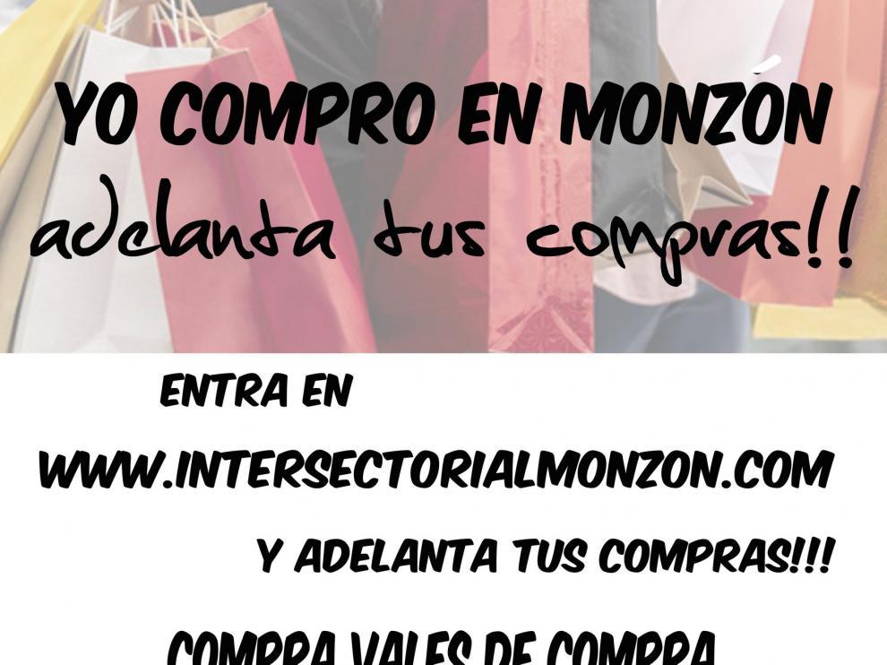 El Ayuntamiento y la Asociación de Comercio de Monzón emiten bonos para colaborar con el sector