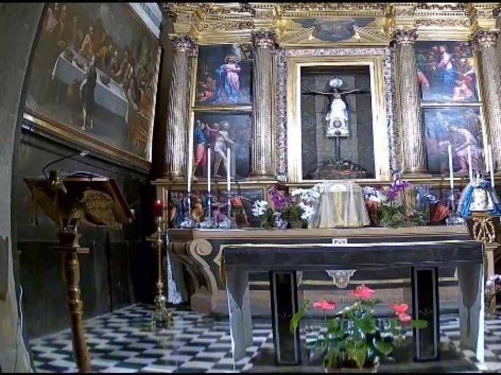 Los oscenses tienen la capilla del Santo Cristo de los Milagros a un clic