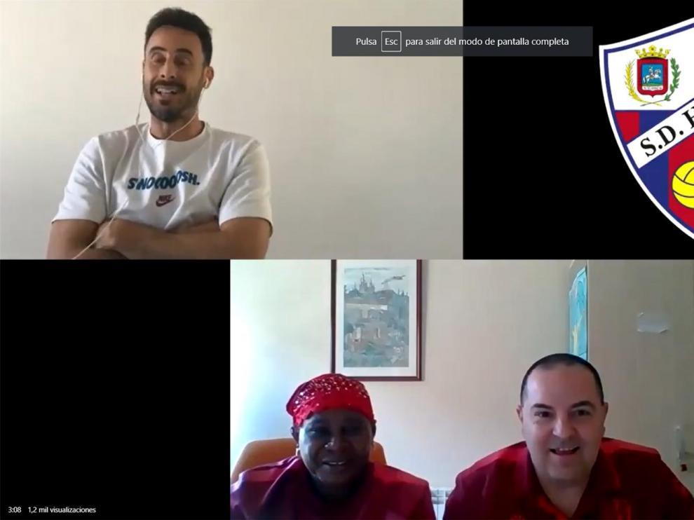 Emociones a la carta en el Huesca con Pedro López, María y Javi