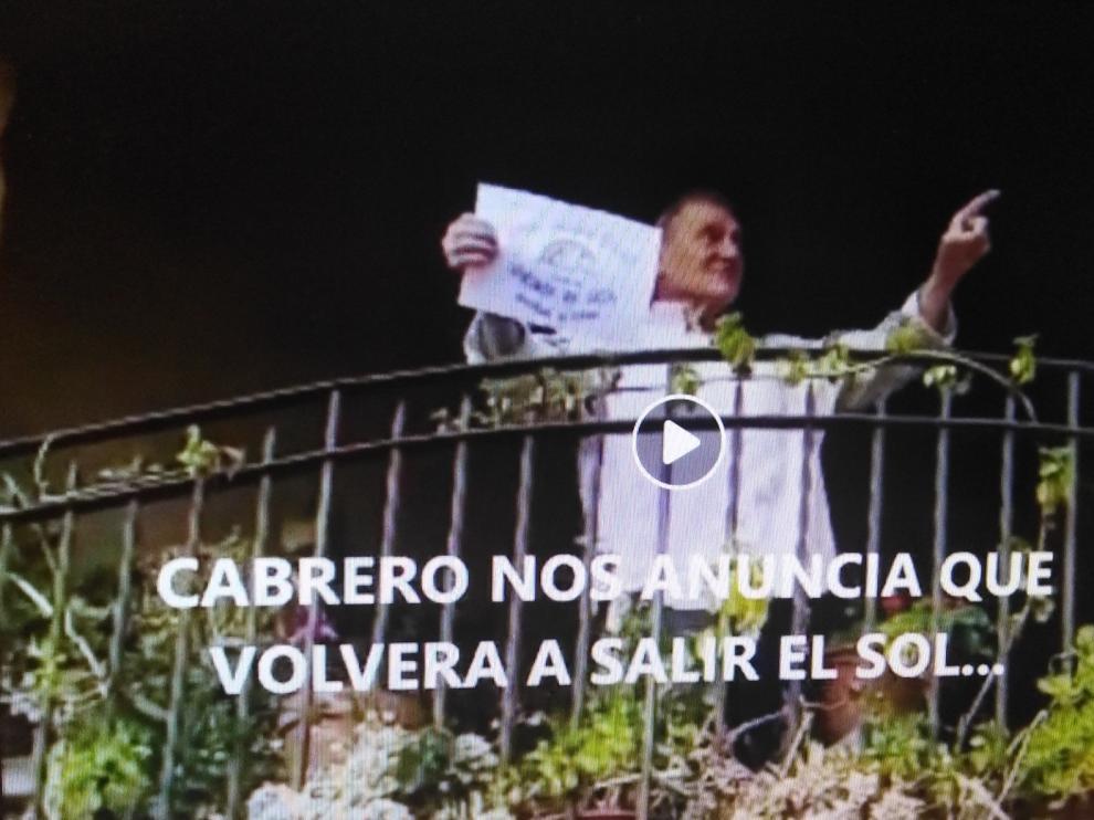 Alquézar participa en un vídeo con sus vecinos como protagonistas