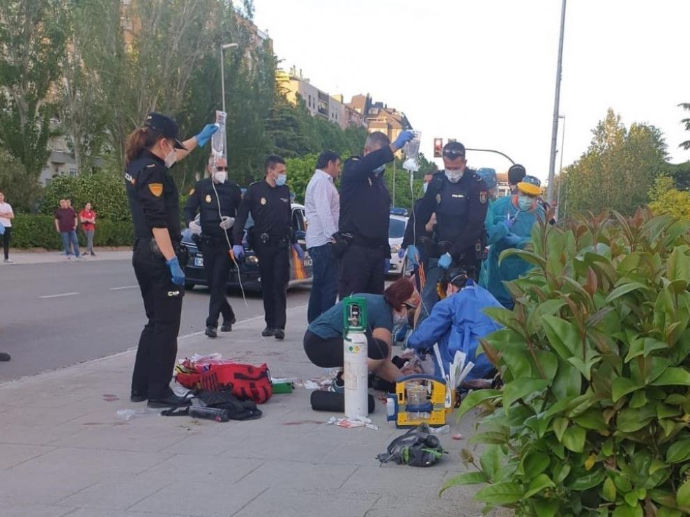 Permanecen ingresados en San Jorge el guardia civil y su hija que fueron apuñalados en Huesca