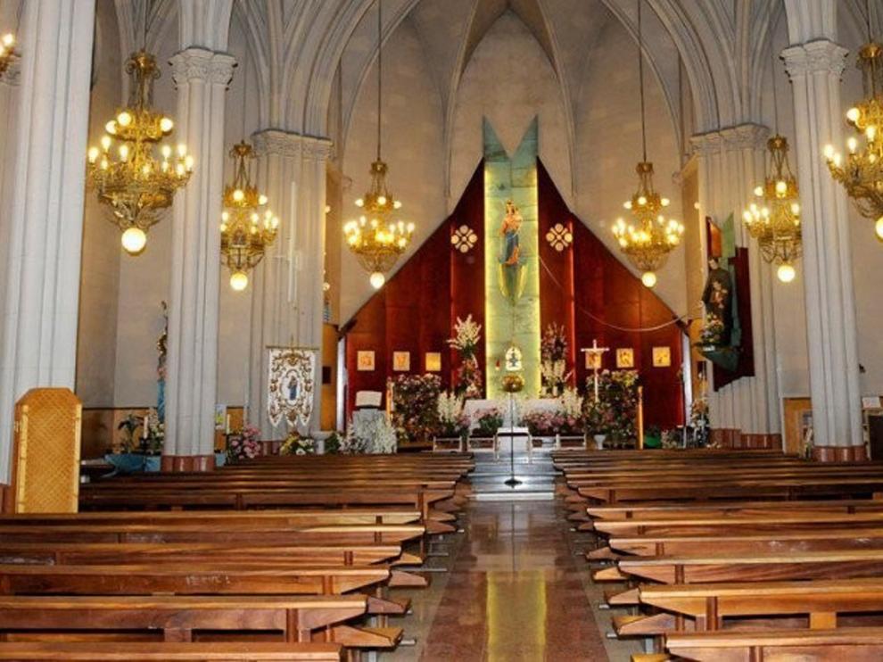 Huesca Televisión emite la misa desde María Auxiliadora