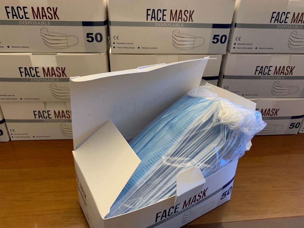 Reparto en Monzón de 17.000 unidades de protección facial