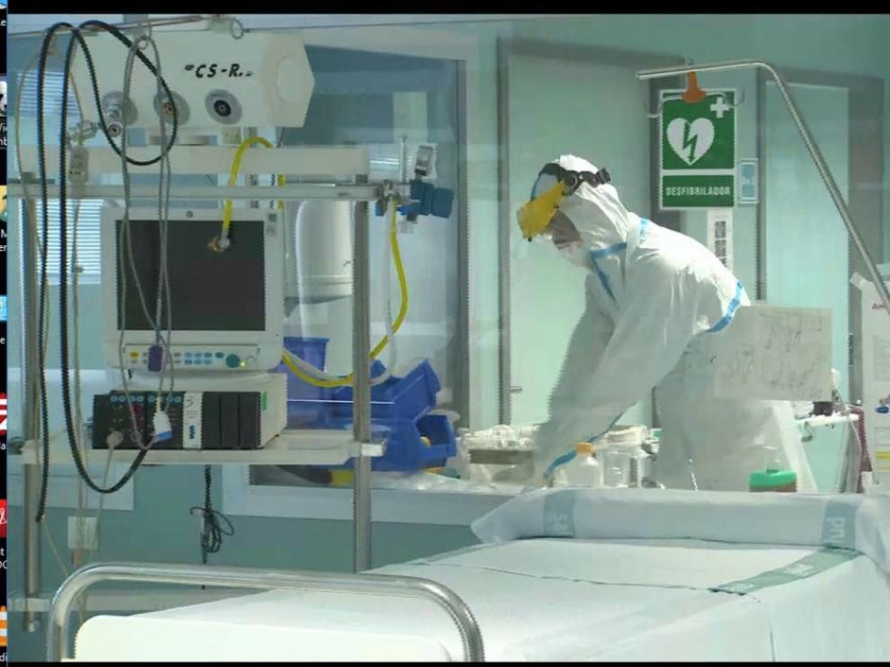 Los hospitales aragoneses tienen actualmente 194 camas ocupadas por afectados por coronavirus