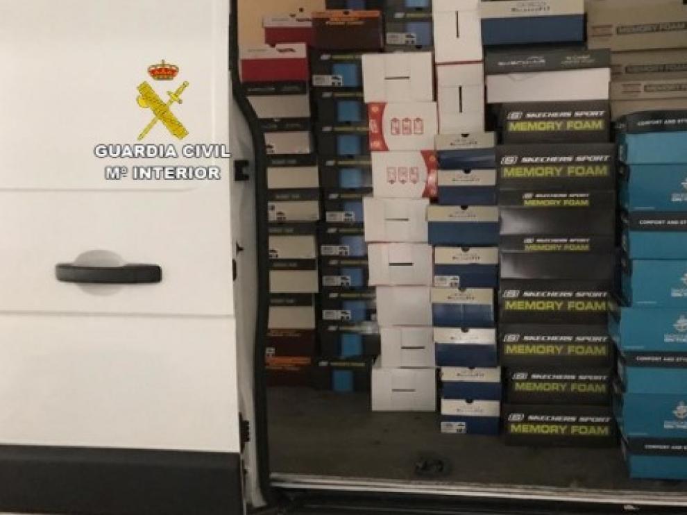 La Guardia Civil desarticula dos grupos delictivos dedicados al robo en camiones en Huesca