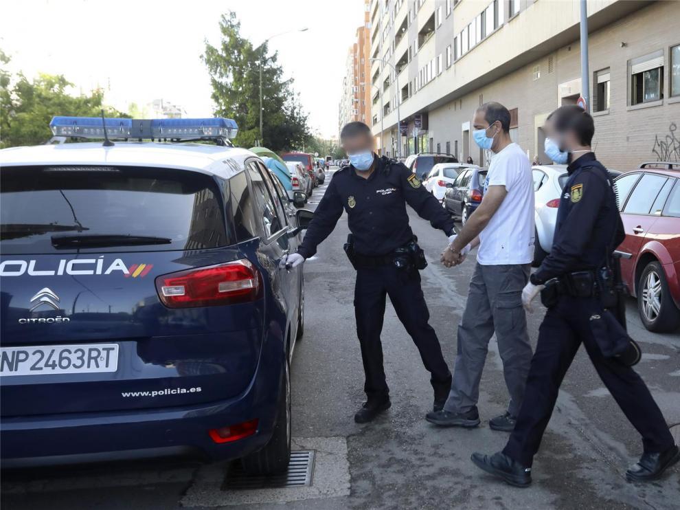 El guardia civil de Huesca que acuchilló a su compañero declara en el juzgado junto a otros dos detenidos