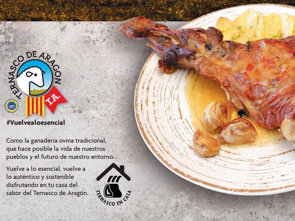 El Gobierno de Aragón incentiva el consumo del ternasco en casa