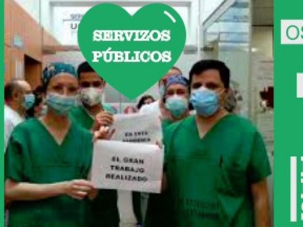 Lanzan la campaña #PintoUnCorazónVerde en defensa de los servicios públicos