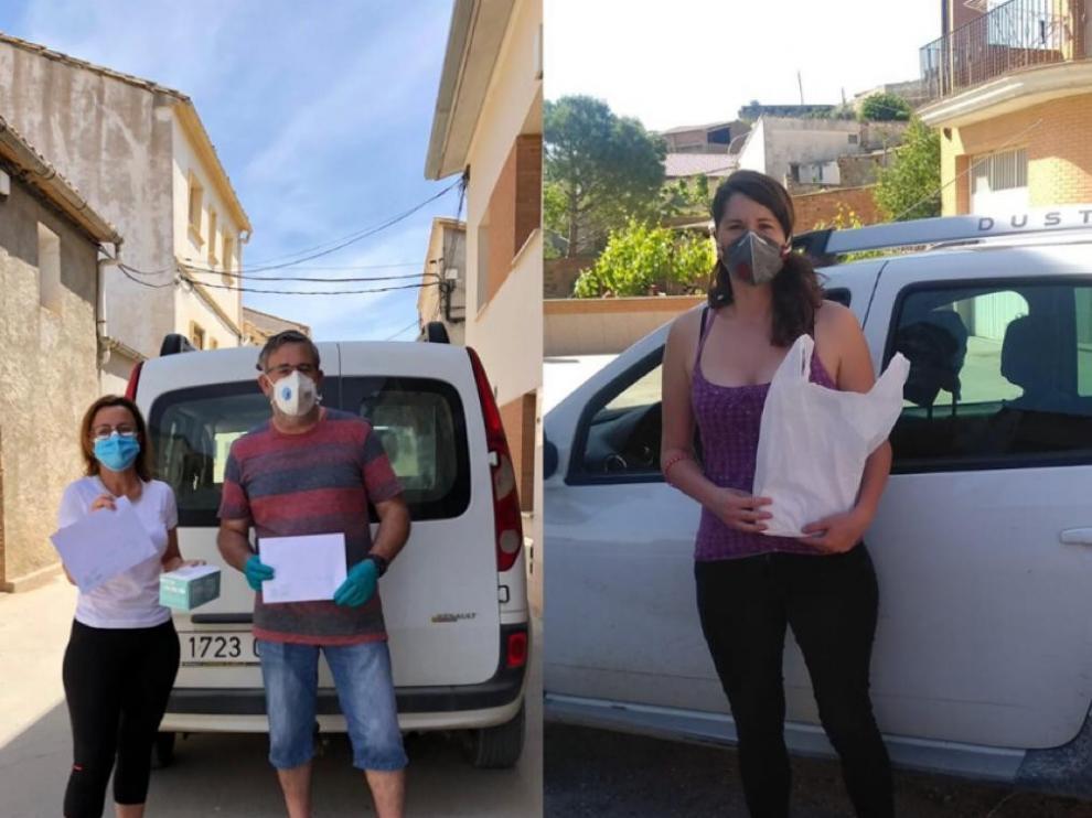 Sabiñánigo y Fonz reparten mascarillas a sus vecinos