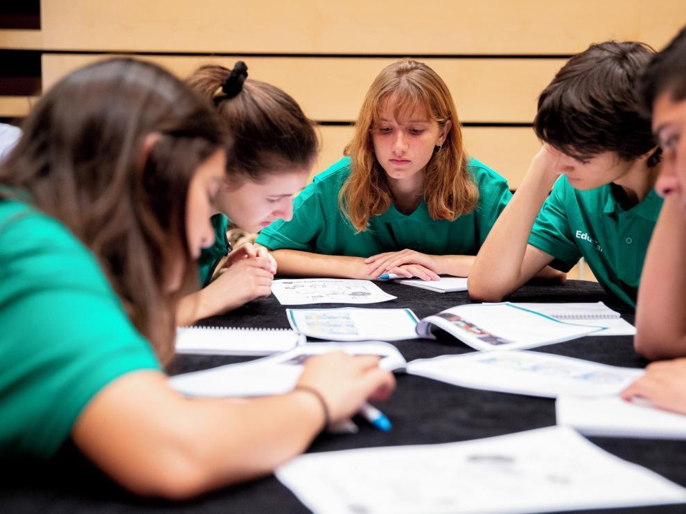 Cuatro equipos oscenses en un campus virtual de EduCaixa