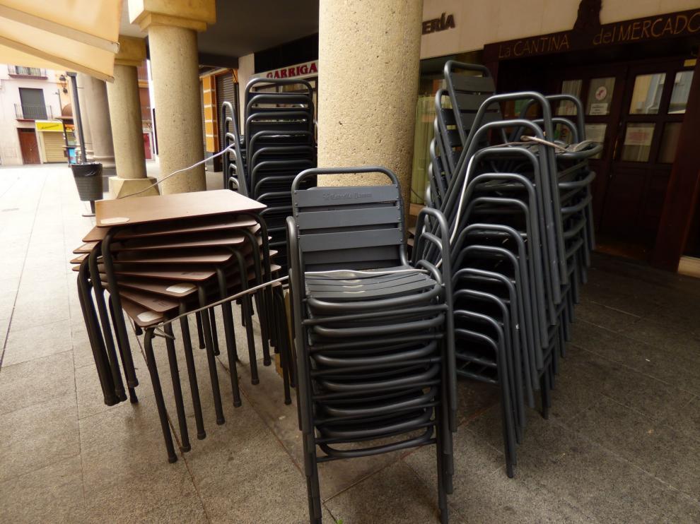 Barbastro estudia la ampliación del espacio para terrazas, entre otras medidas municipales