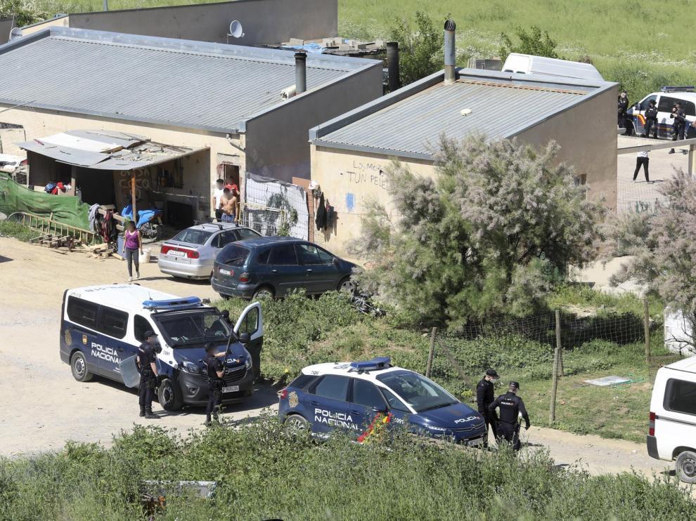 Dos intervenciones policiales en una semana en el asentamiento chabolista de Loma Verde en Huesca