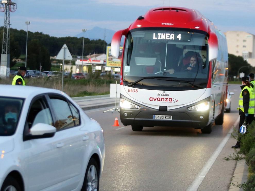 El bus interurbano recobra este lunes el 24 % de sus líneas