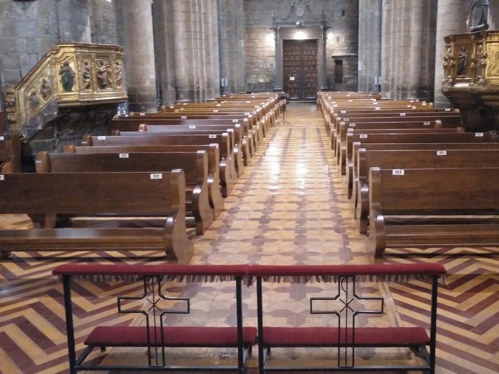 La Catedral de Jaca podrá acoger a 90 personas