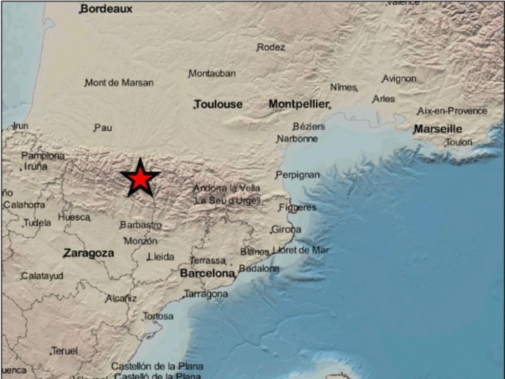 Un pequeño terremoto en Bagneres de Luchon se siente en Benasque