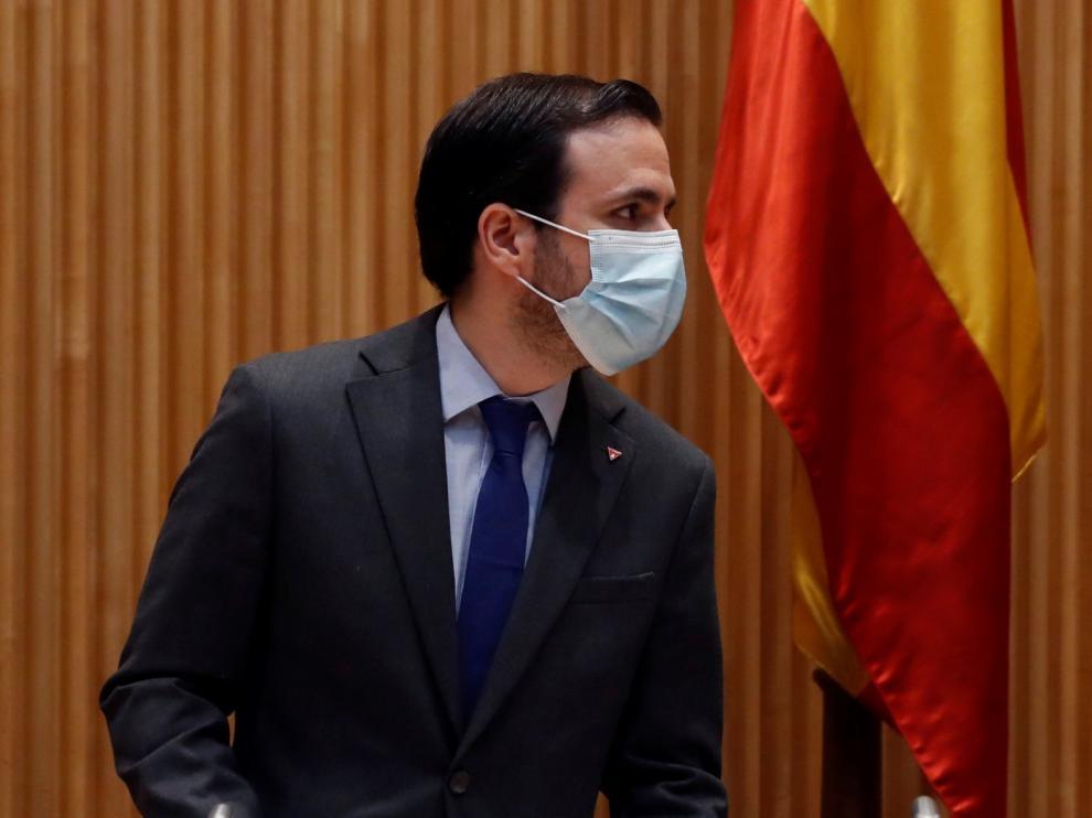 """Garzón asegura que poner precio máximo a las mascarillas ha sido """"efectivo"""" y que las críticas son """"pura propaganda"""""""