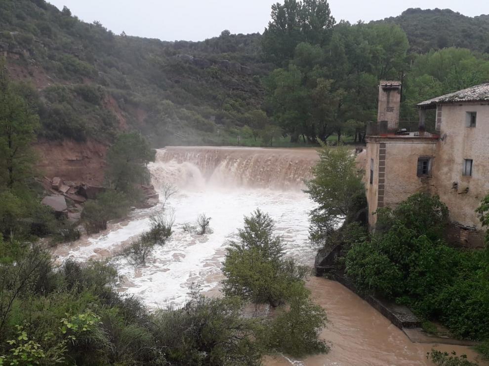 La provincia de Huesca, en alerta por fuertes lluvias