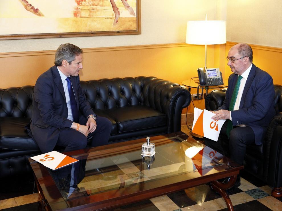 Javier Lambán y Daniel Pérez avanzan prioridades en la superación de la pandemia