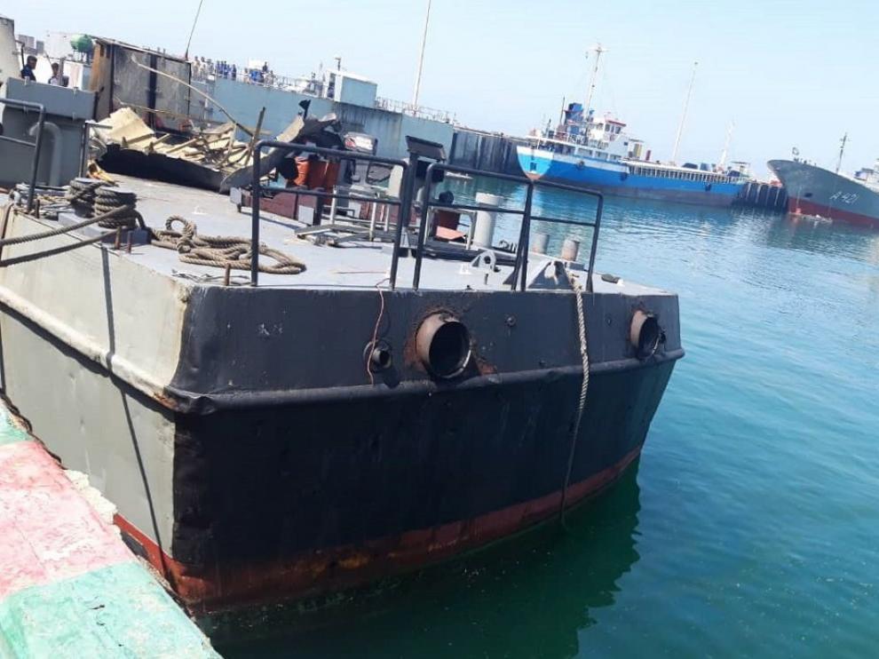 Al menos 19 militares iraníes muertos tras ser alcanzado su buque