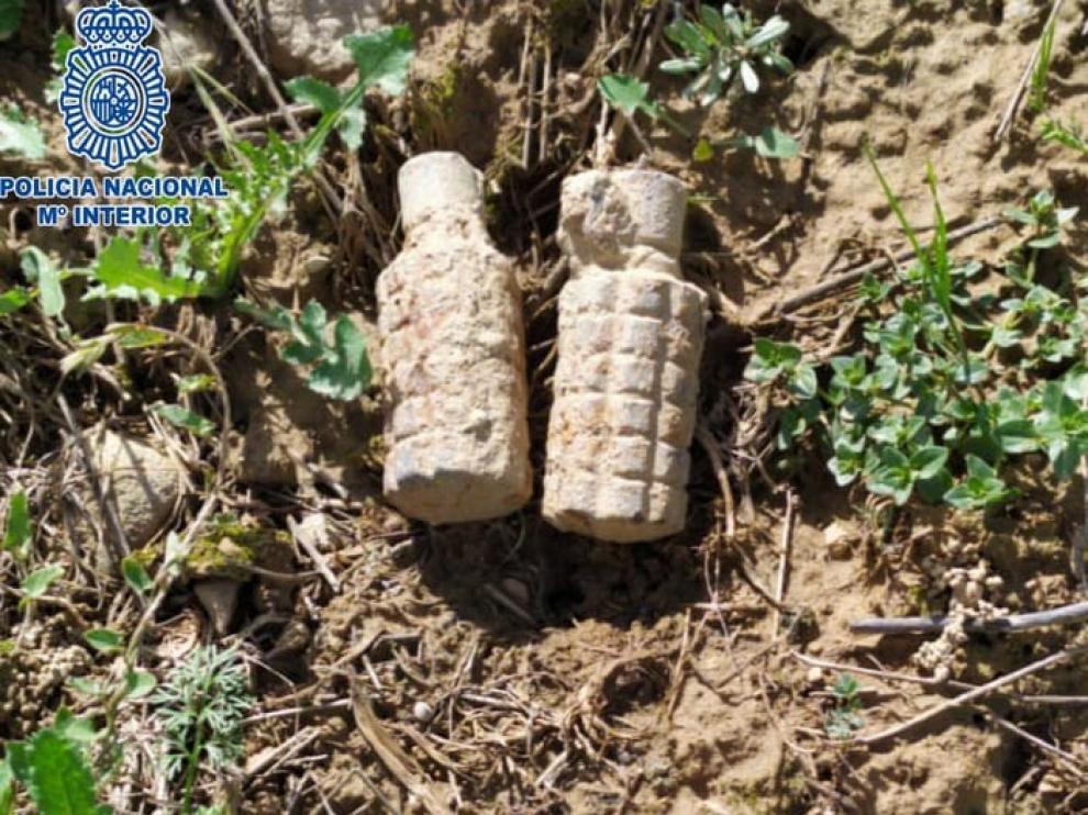 La Policía Nacional neutraliza dos artefactos de la Guerra Civil cerca de Huesca