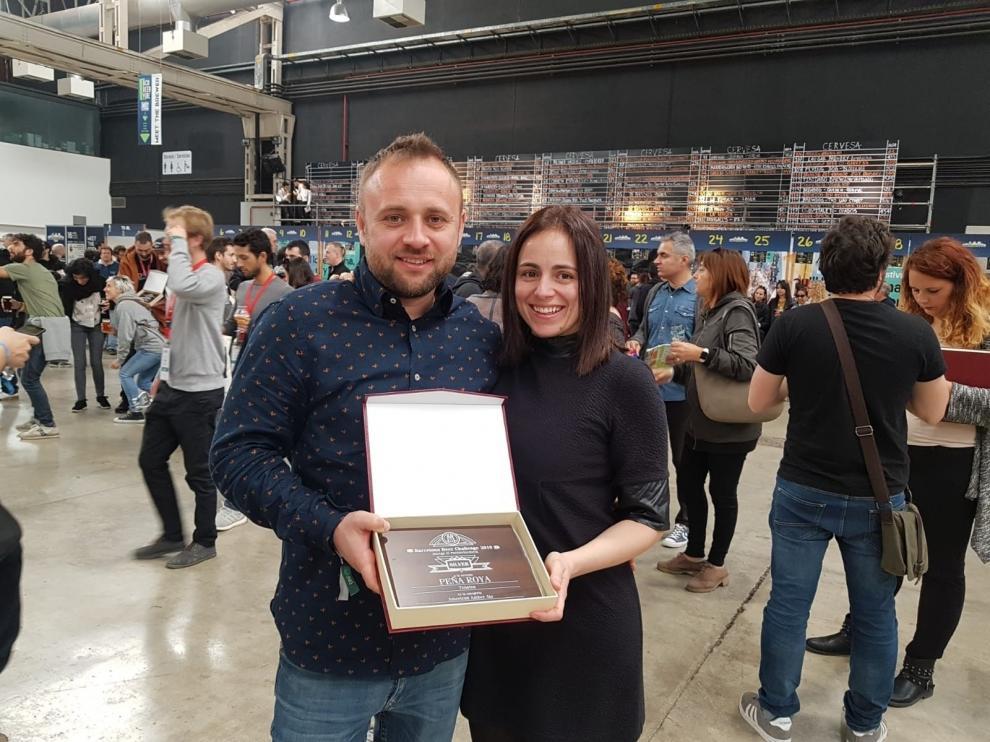 Medalla de oro para la Cerveza Tensina Peña Roya, en Barcelona