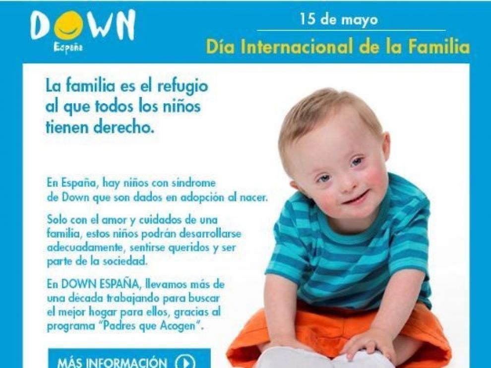 Down España defiende que la familia es el refugio al que los niños tienen derecho