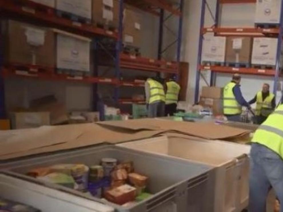 El Banco de Alimentos de Zaragoza atiende a 6.000 personas más