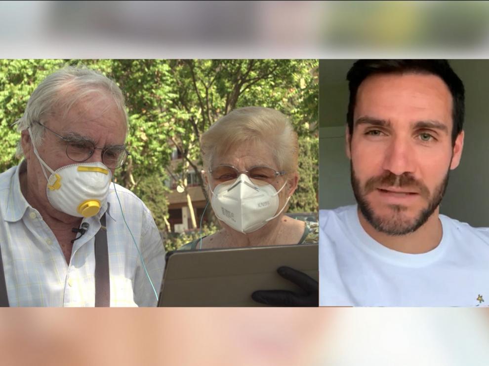 """Saúl Craviotto y Karina sorprenden a nuestros """"Queridos yayos"""" en Aragón TV"""