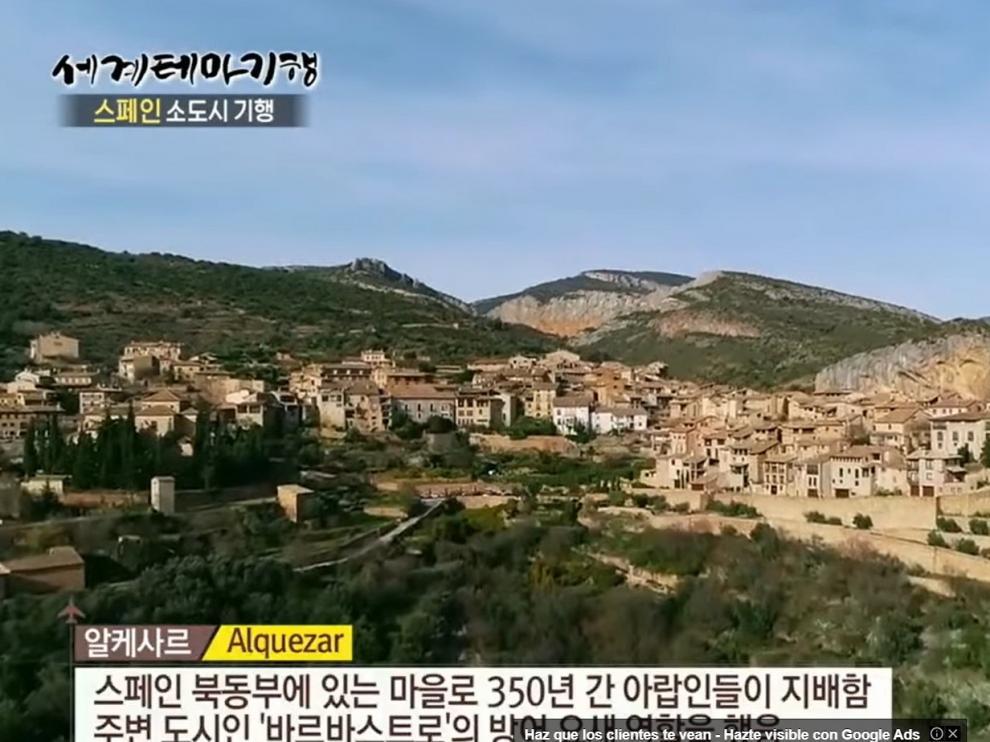 Alquézar y el Somontano aparecen en una televisión de Corea del Sur