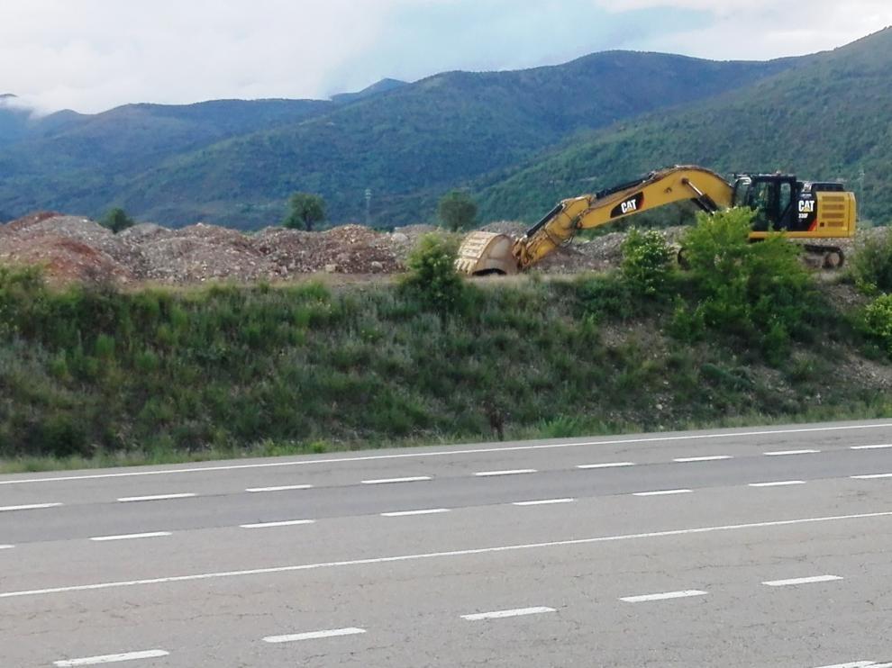Avanzan las obras de la autovía a su paso por Sabiñánigo