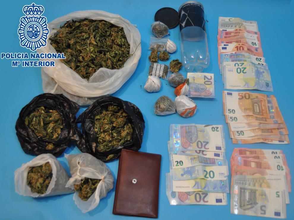 La Policía detiene en Huesca a un joven con 304 gramos de marihuana