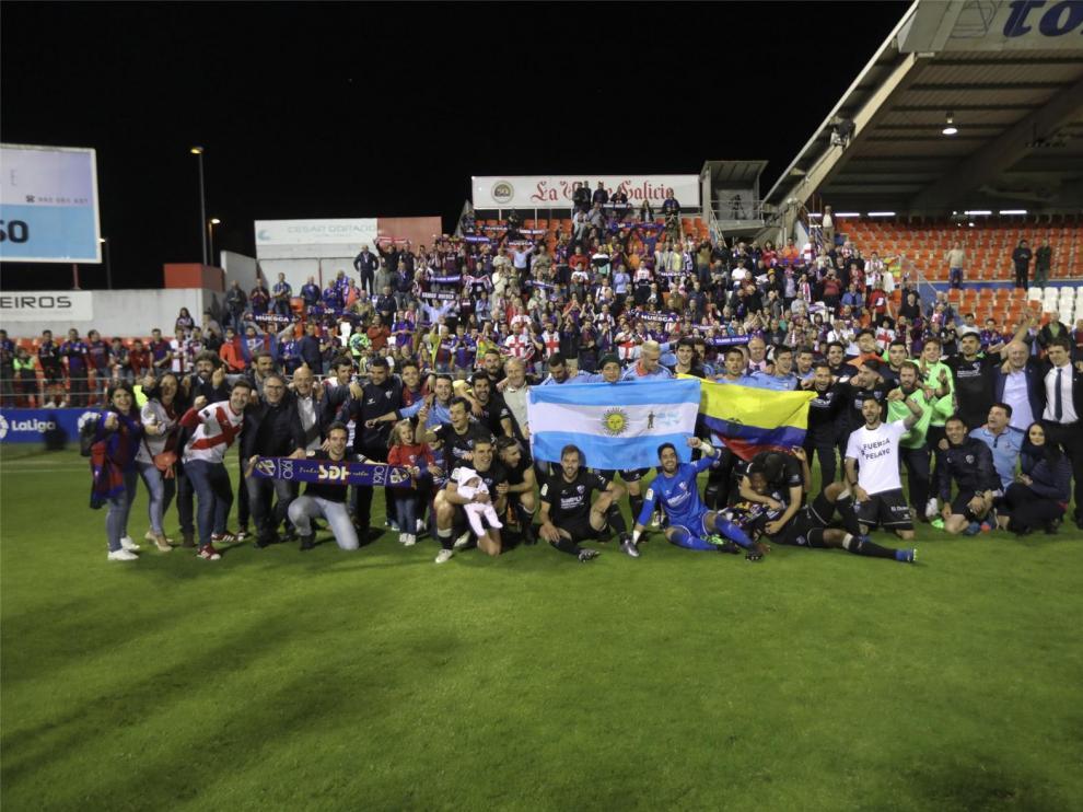 El Huesca celebra dos años del histórico ascenso