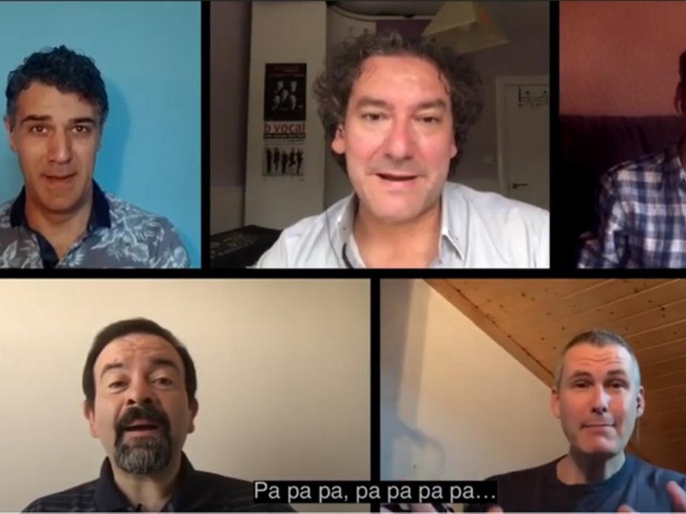 """El grupo b vocal relanza la campaña con el lema """"Ponte la máscara"""""""