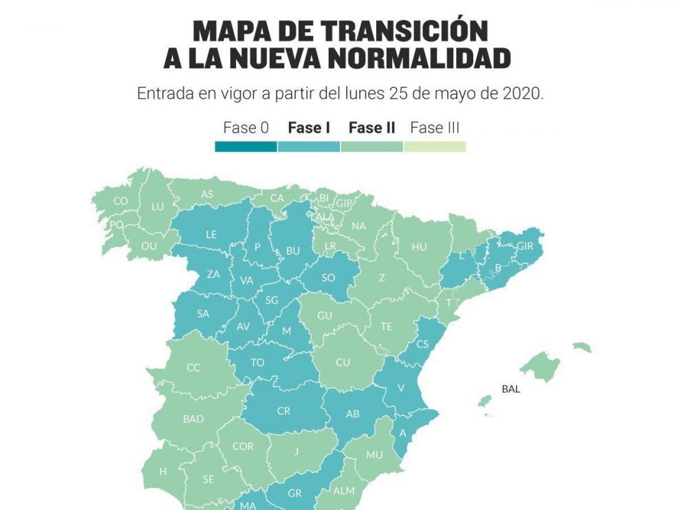 Las tres provincias aragonesas pasan este lunes a la Fase 2 de la Desescalada