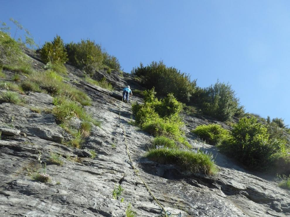 Sesión en Escarrilla, la escalada dentro de la desescalada