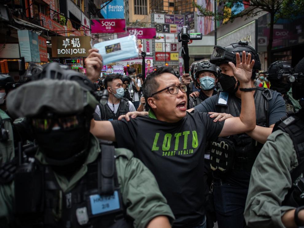 Vuelven las protestas a Hong Kong contra la ley de seguridad