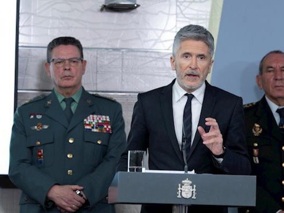 Dimite Laurentino Ceña un día después de que Marlaska cesara al coronel Pérez de los Cobos