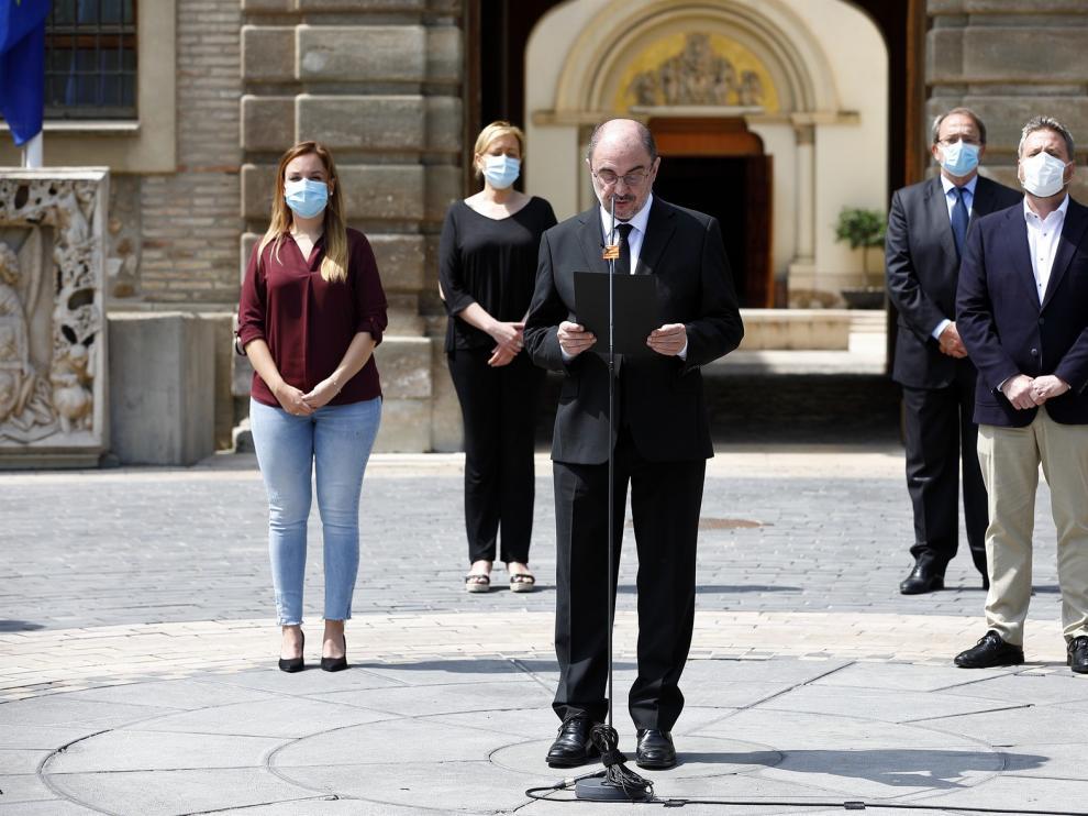 Todo Aragón se suma al luto nacional con respetuoso silencio por las víctimas del coronavirus