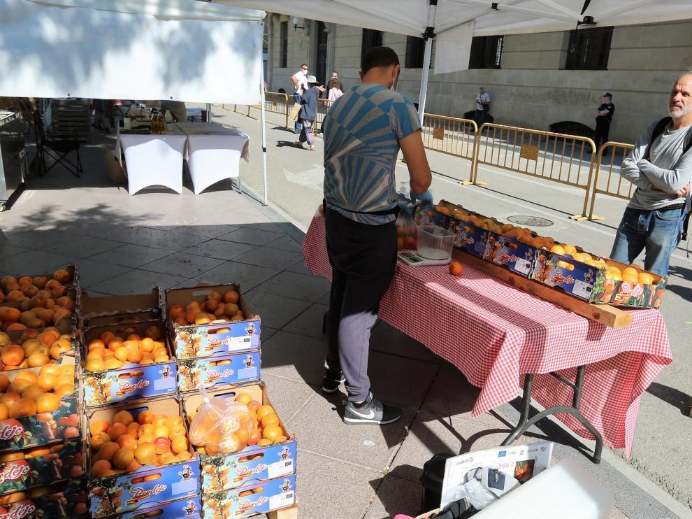 El Mercado Agroecológico de Huesca retoma su actividad en la plaza de Navarra