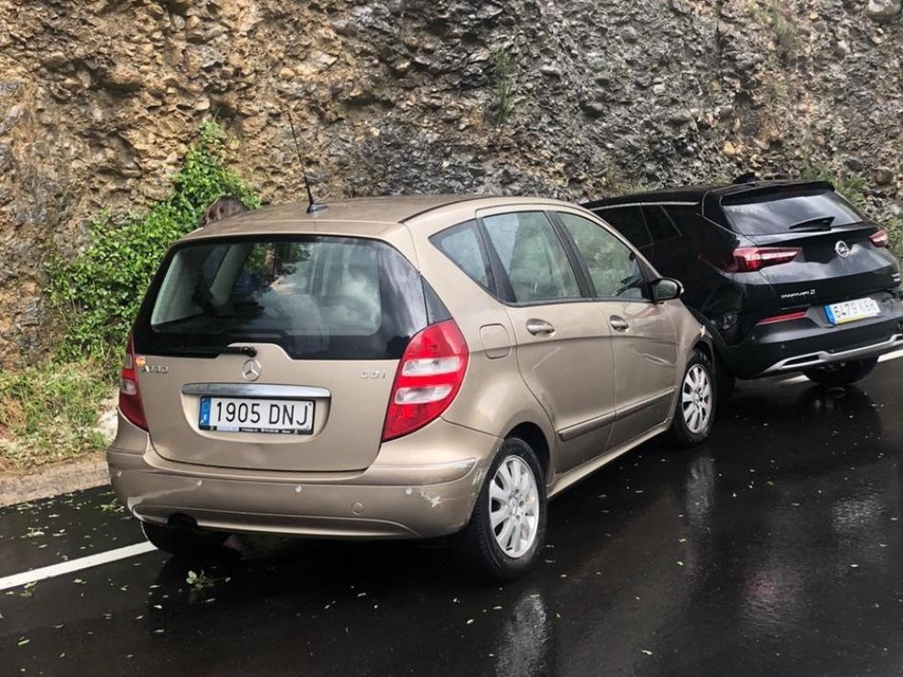 Una persona resulta herida en un accidente en medio de una gran tormenta en Ribagorza