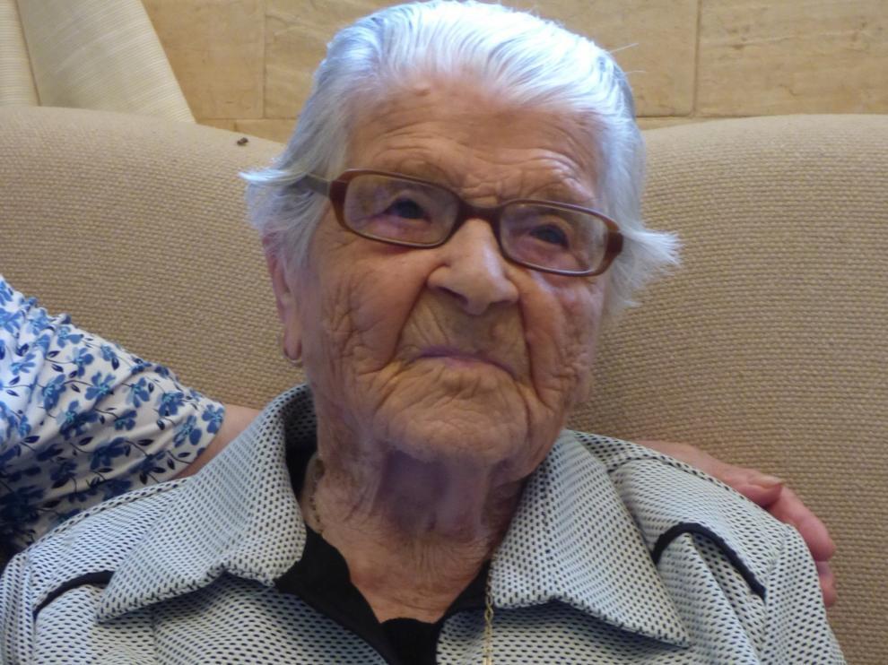Fallece Lucía Lacoma en su casa de Castillazuelo, la altoaragonesa más longeva con 109 años